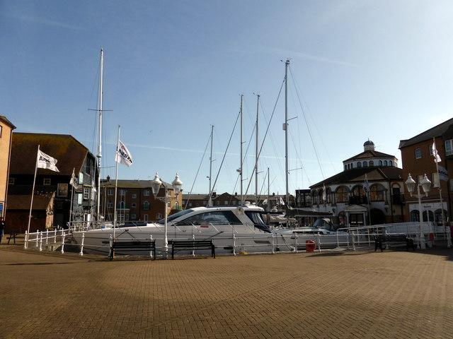 Yacht at Brighton Marina