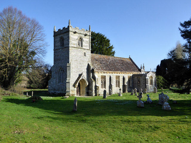 Long Crichel church