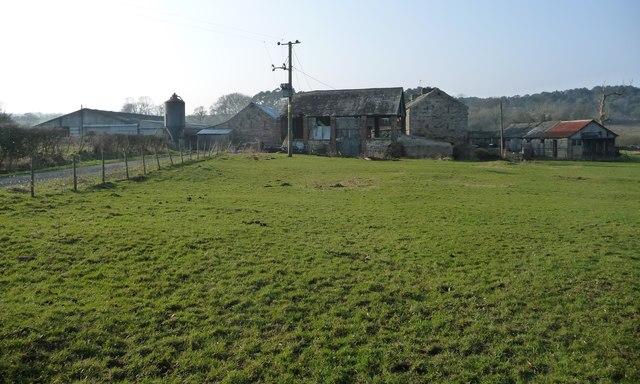 Farm buildings at High Whitber