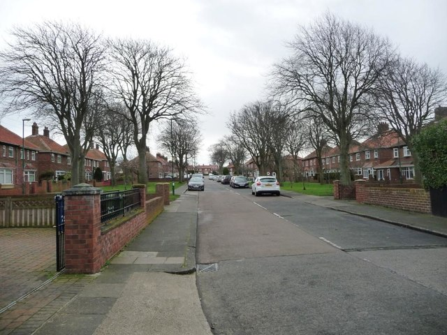 Harton House Road, looking south-east