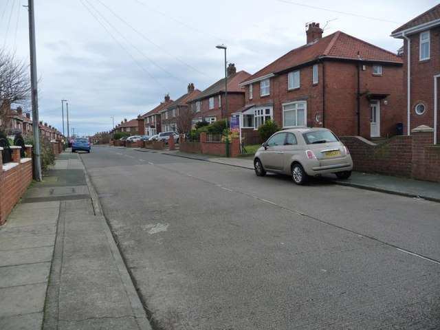Harton House Road, looking north-east