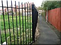 NZ3865 : Public footpath from Fenton Avenue to Bywell Avenue [2] by Christine Johnstone