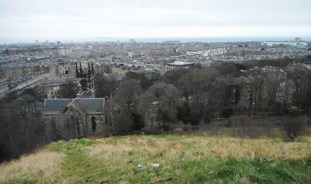 View over the north of Edinburgh from Calton Hill