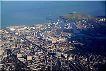 NJ9406 : Aberdeen city centre and harbour from the air by Mike Pennington