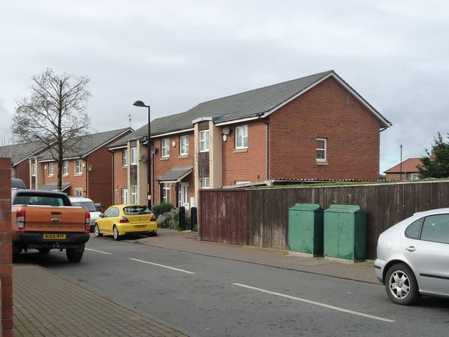 Newer housing on Mulberry Crescent
