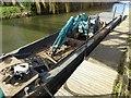 SO8932 : Dredger barge by Philip Halling