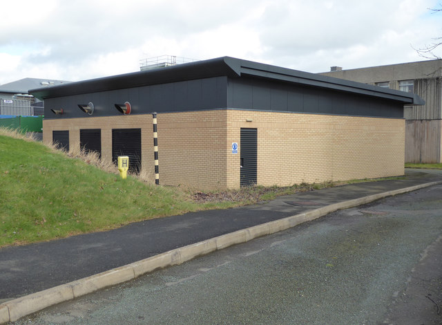 Royal Shrewsbury Hospital - emergency generator house