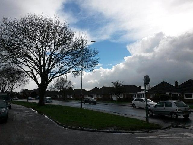 Muscliff: a hole in the rain on Castle Lane