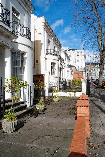 Grade II listed villas, Portland Street, Leamington Spa