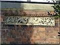 SP3066 : Datestone, Milverton Cemetery lodge by Alan Murray-Rust