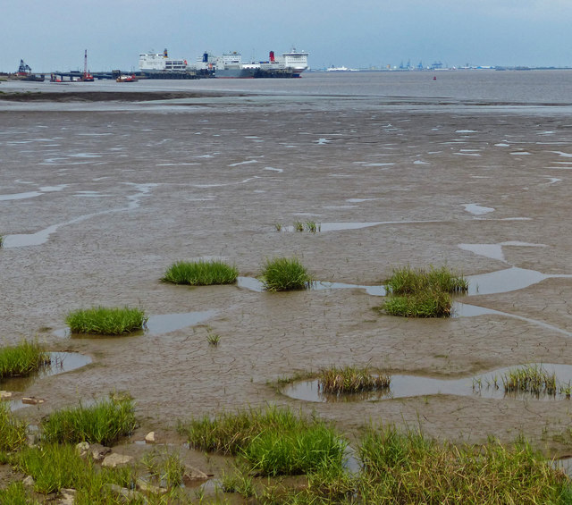 Mud flats on the Humber estuary