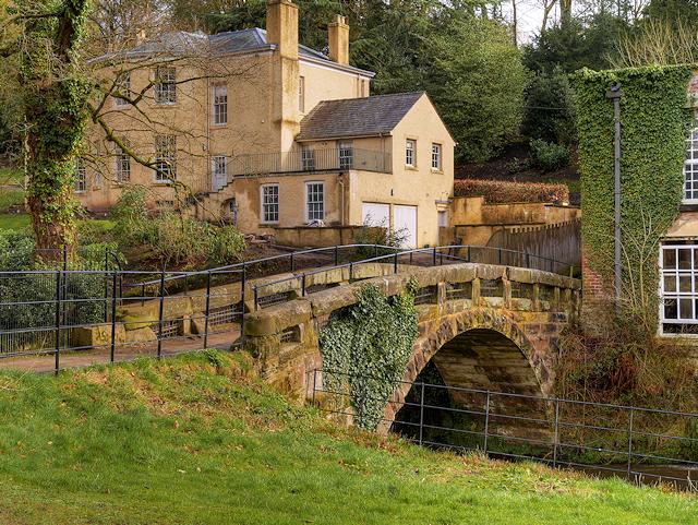 Quarry Bank House and Stone Footbridge