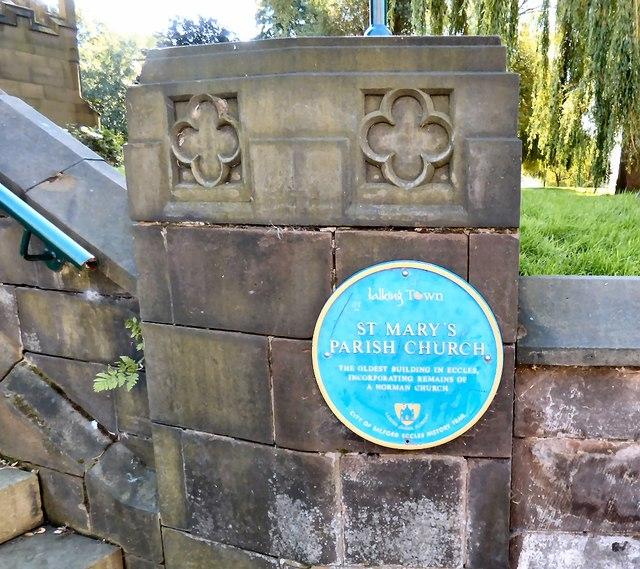 St Mary's Parish Church: Blue plaque