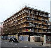SZ6599 : Goldsmith Avenue flats under scaffolding, Portsmouth by Jaggery