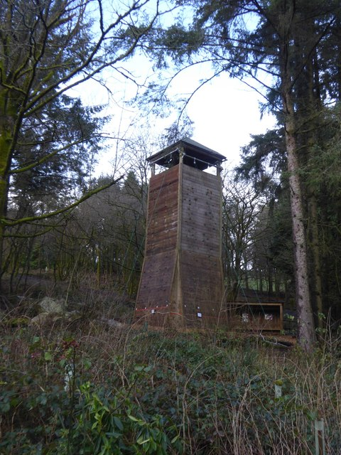 Climbing tower at Heatree Activity Centre
