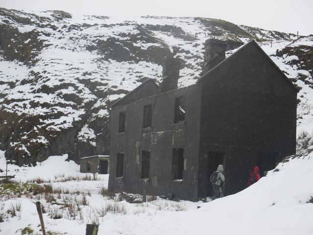 Miner's hostel for the Baryte Mines on Benbulben