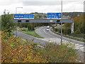 ST5378 : Motorway slip roads, M5 Junction 18a by Derek Harper