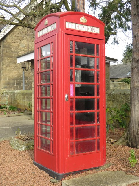 Public telephone box, Longhirst