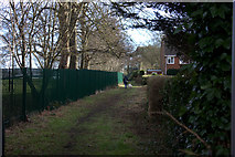 TL1314 : Path along the edge of St George's School grounds by Robert Eva
