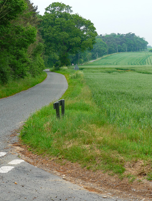 Rectory Road near Ellingham