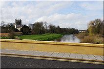 SE4843 : Brand new stonework on Tadcaster Bridge by Bill Boaden