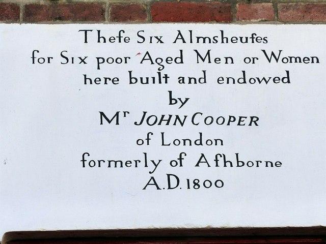 Almshouses inscription