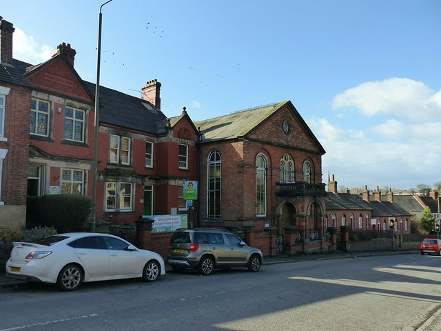 Former Sion Chapel and school, and Cooper's Almshouses, Derby Road, Ashbourne