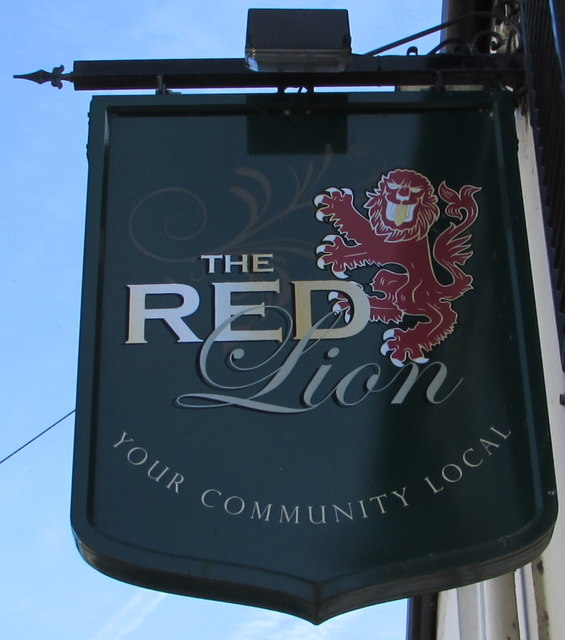 Red Lion name sign, Axminster