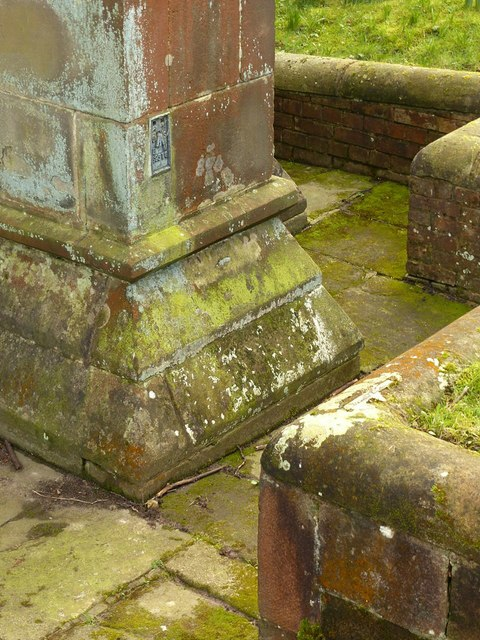 Flush bracket bench mark, St Oswald's Church, Ashbourne