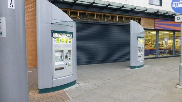 Ticket machines at Beeston Interchange