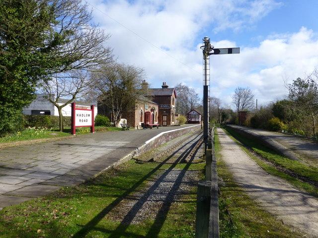 Hadlow Road preserved railway station
