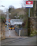 NS3174 : Highholm Avenue entrance to Port Glasgow railway station by Thomas Nugent