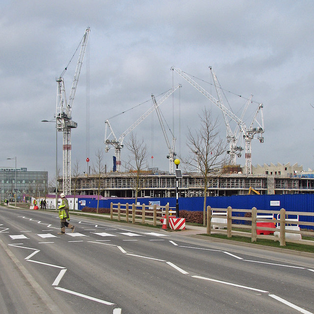 The Astra Zeneca site from Francis Crick Avenue