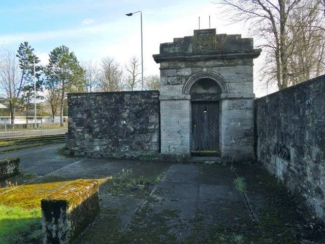 Dumbarton Prison: entrance portico