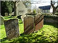SP2545 : Sunlight on gravestones by Philip Halling