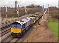 NY3662 : Departmental trains at Blackrigg - March 2017 (1) by The Carlisle Kid