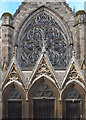 SP3265 : Rose window, Church of All Saints, Leamington Spa by Jim Osley