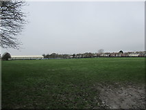 SY6778 : Marsh Sports Ground from Chickerell Road end by John Stephen