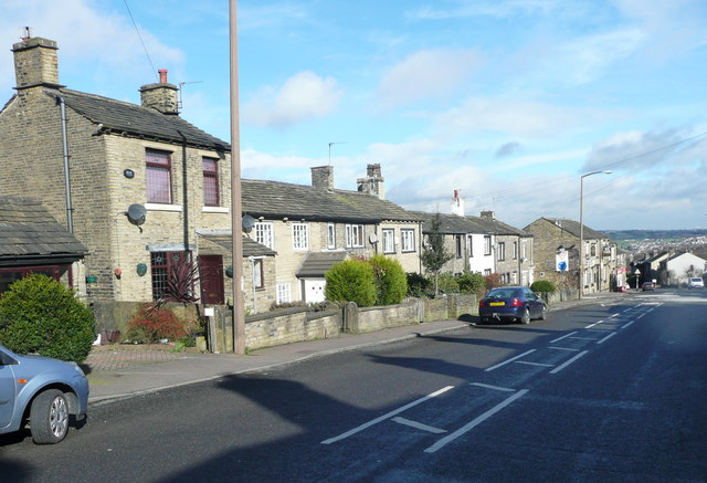 Houses on the west side of New Hey Road, Rastrick