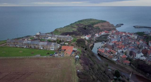 Cowbar and Staithes at dusk