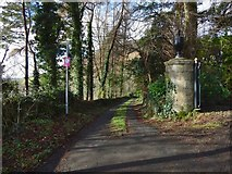 NS4274 : Path from Milton Brae by Lairich Rig