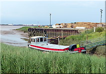 TA0623 : Boat moored at Barrow Haven by Mat Fascione