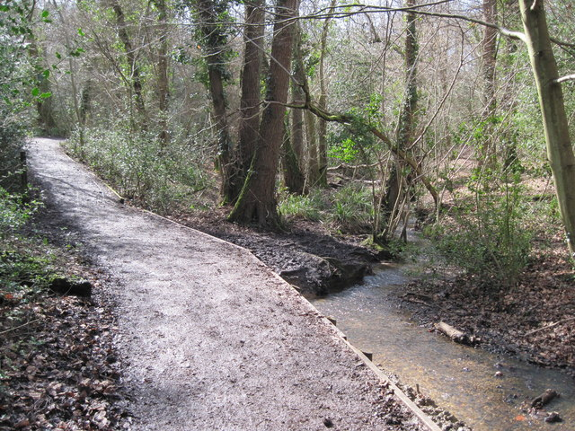 Footpath in Holly Hill Woodland Park