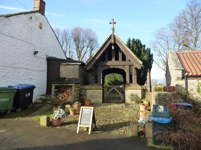 Lych Gate War Memorial, St Mary's Church, Hutton Magna