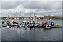 SW8132 : Moorings at Falmouth Harbour, Cornwall by Christine Matthews