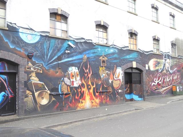 Street art on Moon Street