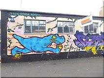 ST5973 : T Rex on Wilder Street by Oliver Dixon