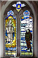 TM0287 : St Andrew's church in Quidenham (memorial window) by Evelyn Simak