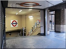TQ2978 : Pimlico tube station - Rampayne Street entrance by Mike Quinn
