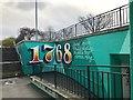 SJ8446 : Newcastle-under-Lyme: subway art by Jonathan Hutchins